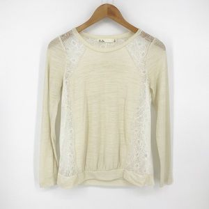Madewell : Hi-Line Cream Lace Top Small
